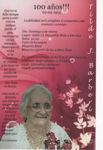 100 años abuela tilde